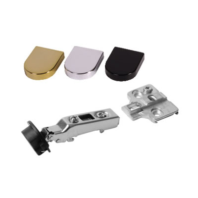 Motion Clip-On Glass Door Cabinet Hinge - 95° - Overlay