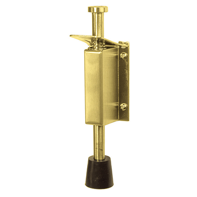 Altro Foot Operated Door Holder - 140mm - PVD Brass