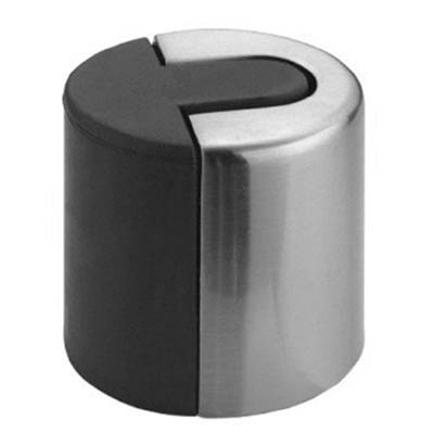Altro Designer Floor Mounted Door Stop   40mm   Polished Stainless Steel |  IronmongeryDirect