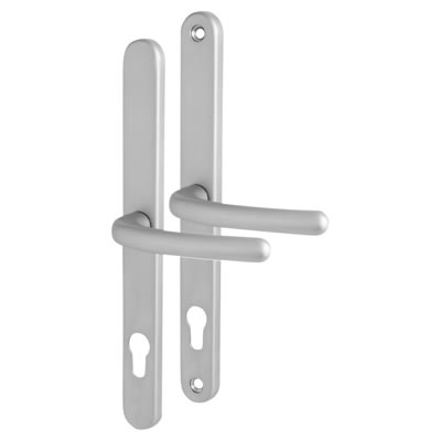 Universal Repair Multipoint Lock Lever/Lever Handle - uPVC/Timber - 92mm centres - Satin Chrome
