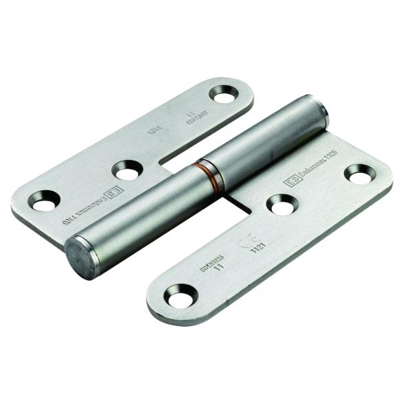 Enduro Lift Off Thrust Bearing Hinge - 98 x 83 x 3mm - Left Hand - Stainless Steel)