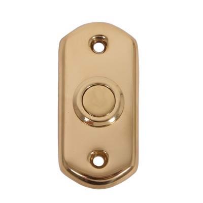 Carlisle Brass Bell Push - 38 x 75mm - Stainless Brass PVD
