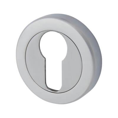 Aglio Escutcheon - Euro - Satin Chrome
