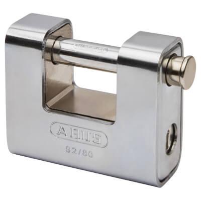 ABUS Series 92 Steel Shutter Padlock - 80mm - Steel)