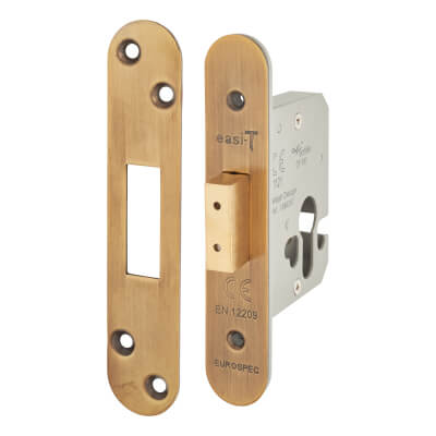 A-Spec Architectural Euro Deadlock - 65mm Case - 44mm Backset - Radius - Florentine Bronze