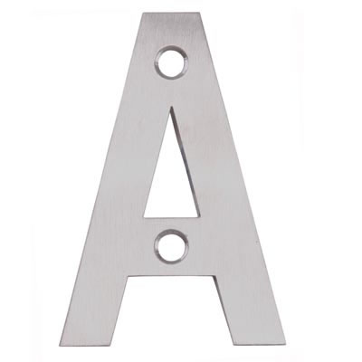Altro 75mm Letter - A - Satin Stainless Steel