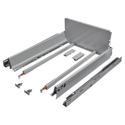 Blum TANDEMBOX ANTARO Pan Drawer - BLUMOTION Soft Close - (H) 203mm x (D) 550mm x (W) 500mm - Grey