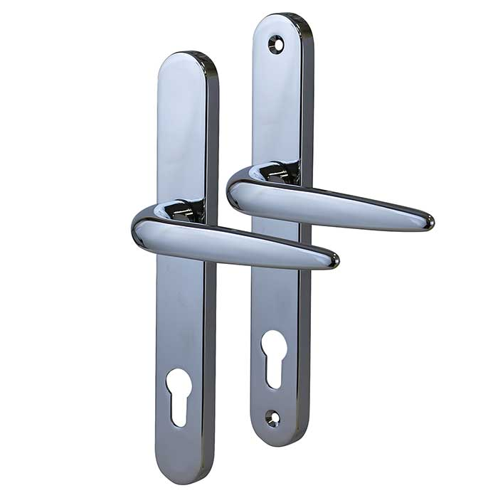 Trojan Sparta Multipoint Handle - uPVC/Timber - Lever/Lever - Chrome