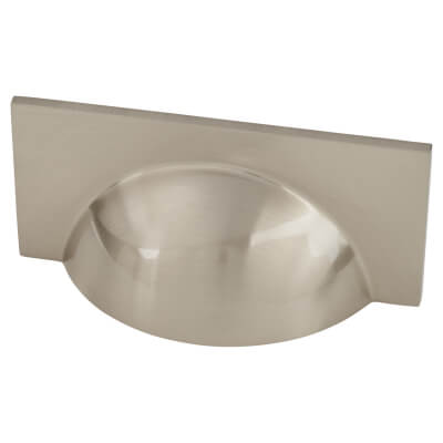 Crofts & Assinder Monmouth Cup Cabinet Handle - 64mm Centres - Brushed Satin Nickel)