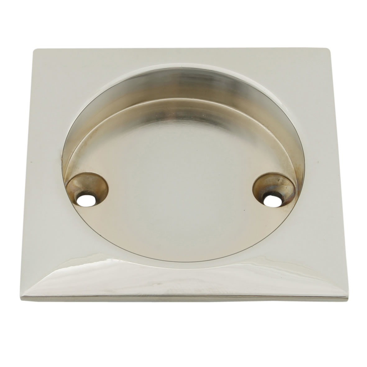 KLÜG Square Screw Fixed Flush Handle - 63 x 63mm - Polished Chrome