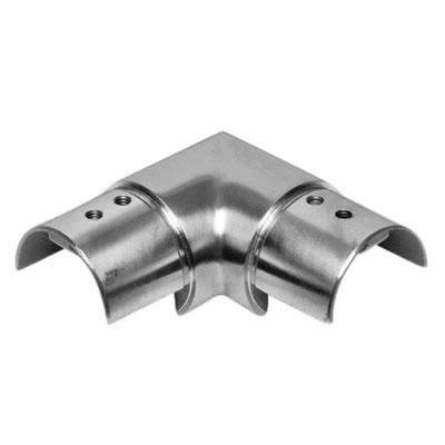 Posiglaze Balustrade 90 Degree Handrail Connector - Stainless Steel
