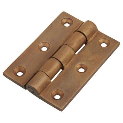 Cast Bronze Hinge - 76 x 56 x 5mm - Oil Rubbed Bronze