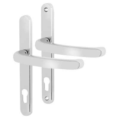 Fab & Fix Balmoral - uPVC/Timber - Extended Multipoint Lock Lever - 92mm centres - Bright Chrome