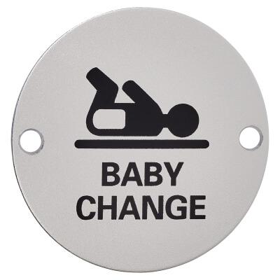 Baby Change - 75mm - Satin Aluminium