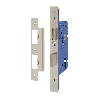 A-Spec Architectural DIN Euro Escape Sashlock - 85mm Case - 60mm Backset - Satin Stainless)