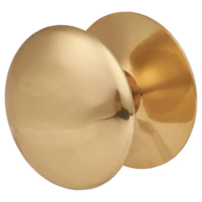 Touchpoint Budget Victorian Cabinet Knob - 50mm - Polished Brass