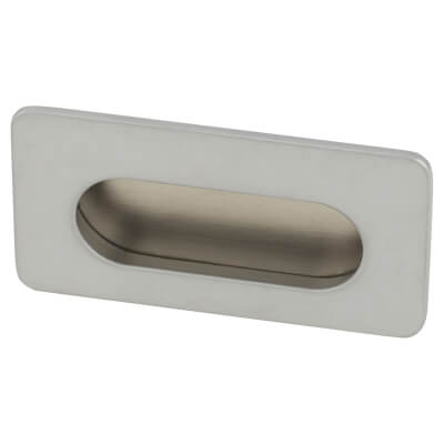 Touchpoint Flush Cabinet Pull - 38 x 72mm - Matt Chrome)