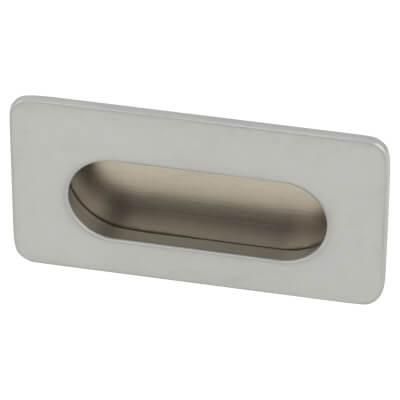 Touchpoint Flush Cabinet Pull - 38 x 72mm - Matt Chrome
