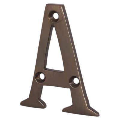 Jedo 50mm Letter - A - Dark Bronze