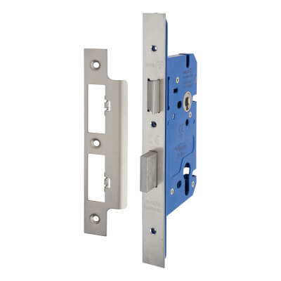 A-Spec Architectural DIN Euro Sashlock - 85mm Case - 60mm Backset - Satin Stainless)