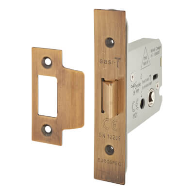A-Spec Heavy Duty Flat Latch - 79mm Case - 57mm Backset - Florentine Bronze