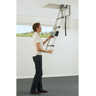 Aluminium Telescopic Loft Ladder - 2350-2450mm