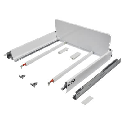 Blum TANDEMBOX ANTARO Pan Drawer - BLUMOTION Soft Close - (H) 203mm x (D) 500mm x (W) 600mm - White