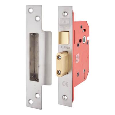 UNION® 2205S StrongBOLT 5 Lever Sashlock - 68mm Case - 45mm Backset - Satin Stainless)