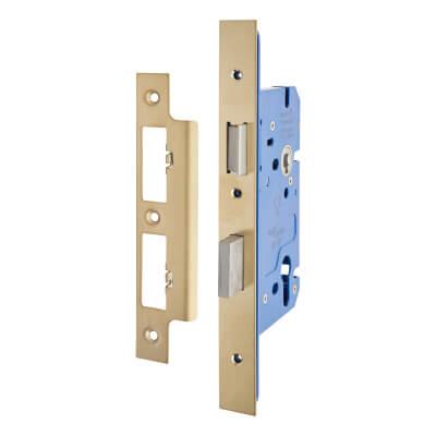 A-Spec Architectural DIN Euro Sashlock - 85mm Case - 60mm Backset - PVD Brass