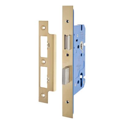 A-Spec Architectural DIN Euro Sashlock - 85mm Case - 60mm Backset - PVD Brass