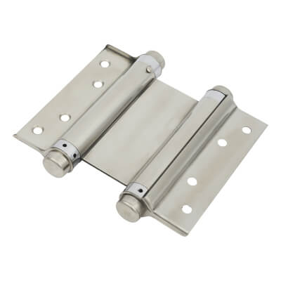 Double Action Spring Hinge - 127mm - Polished Stainless Steel - Pair