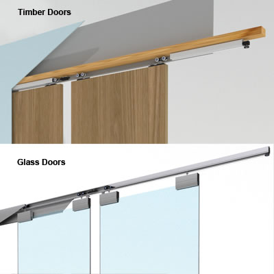 Ducasse Wall Fixing Kit for Glass Door Systems - 3 metres