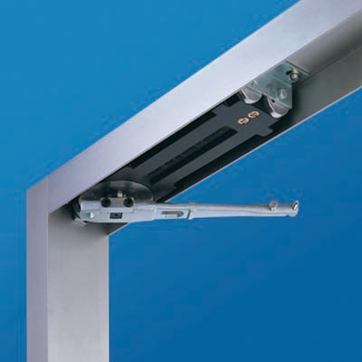 concealed overhead door closer. dorma rts85 closer - 105 degree hold open concealed overhead door