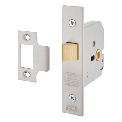 UNION® 2677 Heavy Box Pattern Latch - 77.5mm Case - 57mm Backset - Satin Stainless