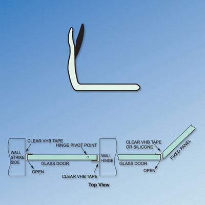 Clear PVC Shower Seal - Angle Jamb - Suits 6-12mm Glass