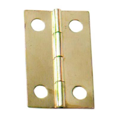 Mini Solid Brass Hinge - 25 x 18mm - Satin Brass - Pack of 5 pairs