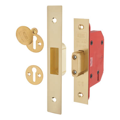 UNION® 2105S StrongBOLT 5 Lever Deadlock - 68mm Case - 45mm Backset - Brass