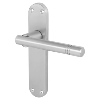 Morello Bologna Door Handle - Latch Set - Satin Chrome)