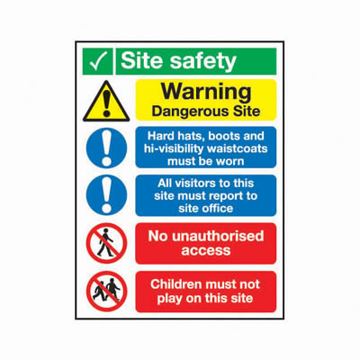 Dangerous Site - 800 x 600mm)