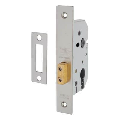 UNION® 2149 Euro Deadlock - 65mm Case - 44.5mm Backset - Satin Stainless