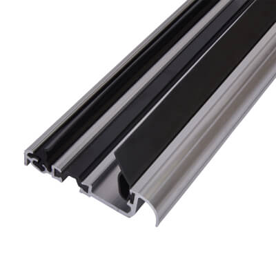 Exitex Low Height Macclex Threshold - Thermally Broken - 914mm - Inward Opening Doors - Mill Alumin
