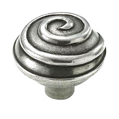 Finesse Swirl Cabinet Knob - 45mm - Pewter)