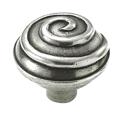 Finesse Swirl Cabinet Knob - 45mm - Pewter)