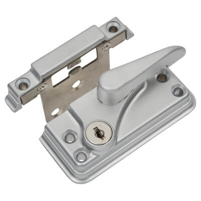 Fab & Fix High Security Fitch Fastener Cam Lock and Small Keep - Satin Chrome