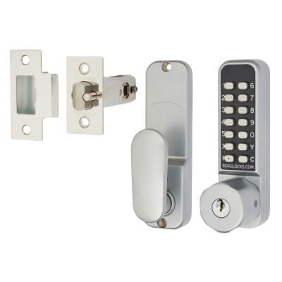 Borg BL2701 Easicode Pro Code Operated Lock with Hexagonal Knob and Key Override  - Grey)