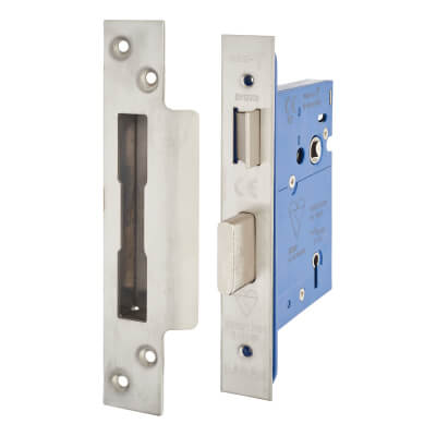 A-Spec BS3621 5 Lever Sashlock - 78mm Case - 57mm Backset - Satin Stainless