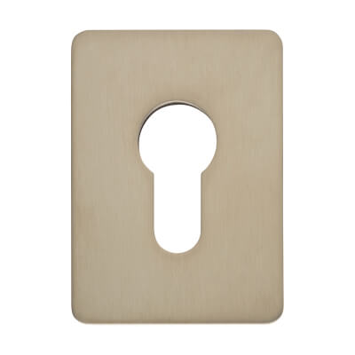 Jumbo Adhesive Fixing Escutcheon - 65.5 x 47.6mm - Euro - Satin Stainless