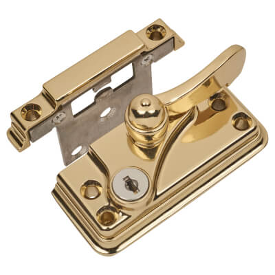 Fab & Fix High Security Heritage Fitch Fastener Cam Lock and Large Keep - Gold