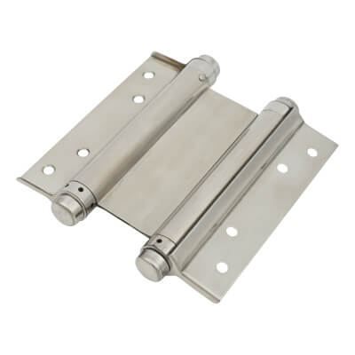 Double Action Spring Hinge - 153mm - Polished Stainless Steel)
