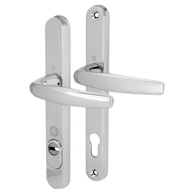 Hoppe PAS 24 Multipoint Security Handle - uPVC/Timber - Long Plate 92mm Centres